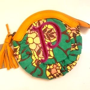 """NWT Anthropologie Lucky Penny """"P"""" Purse"""